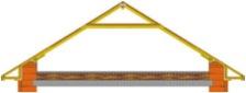 Наслонная стропильная конструкция с ригелем.