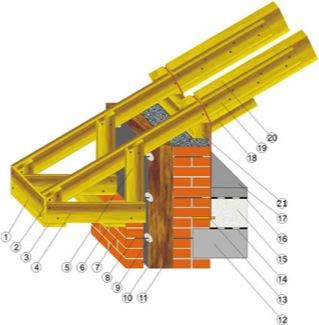 Основные узлы стропильной конструкции.